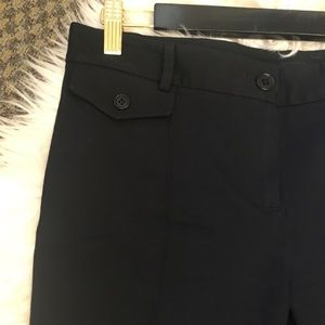 Theory Pants - Theory Black Stretch Flare Dress Trouser Pants
